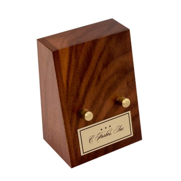 Wooden Coin Stand No Coin Custom Plate