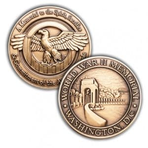 WWII Memorial Challenge Coin