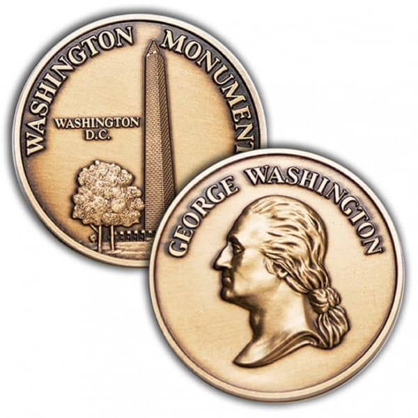 Washington Monument Challenge Coin