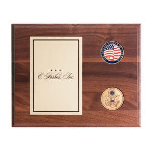 Walnut Plaque with Great Seal Challenge Coins