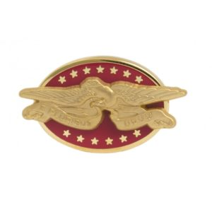 American Eagle Red lapel Pin