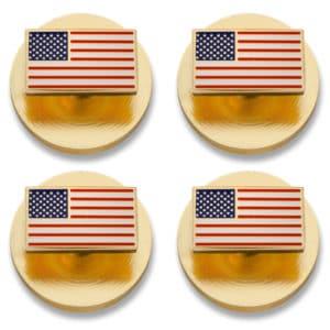 American Flag Stud Set