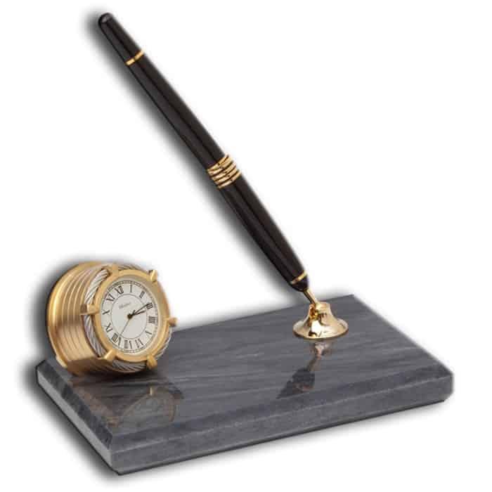 Chelsea Desk Clock Fountain Pen Stand