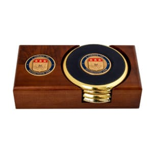 Coaster Holder Four with Coin