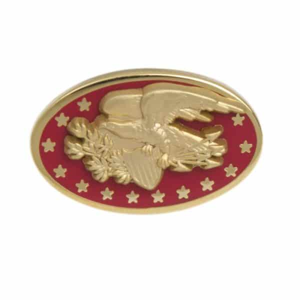 Eagle Lapel Pin Red