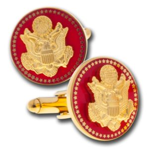 Great Seal Cuff Link in Red