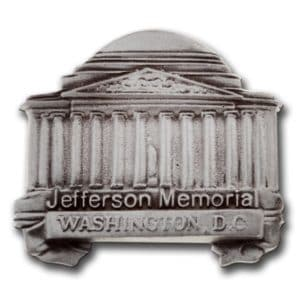 Thomas Jefferson memorial lapel pin