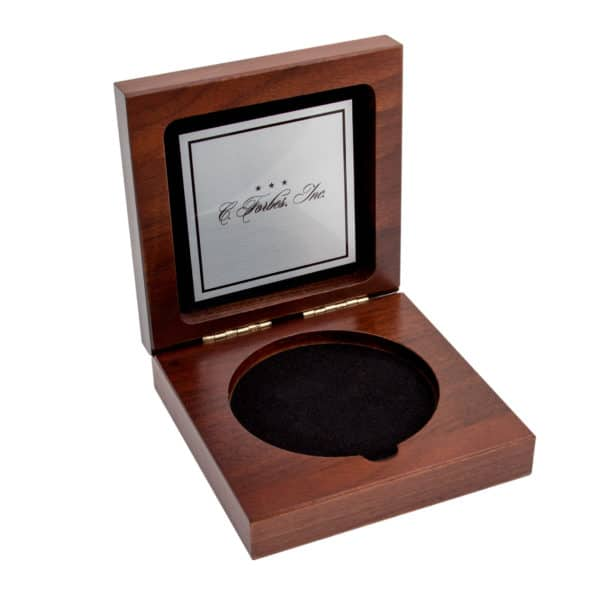 Medallion Display Box Custom Silver Plate