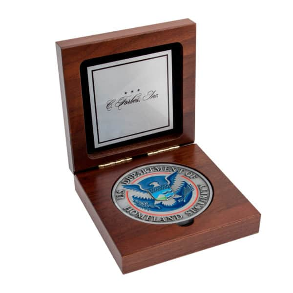 Medallion Display Box Custom Silver Plate