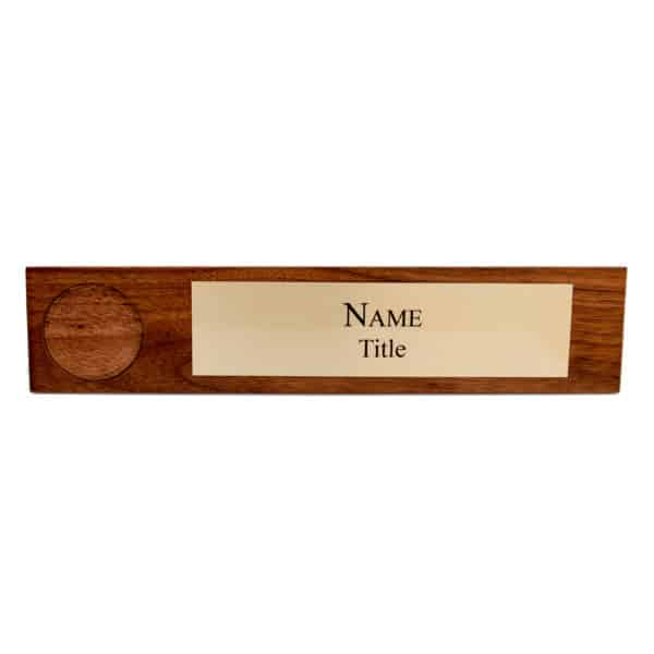 Wooden Name Plate Brass No Coin