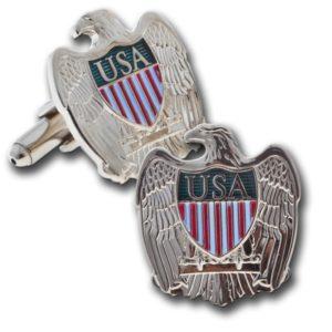USA Eagle Cuff Link in Silver