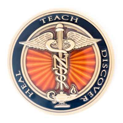 George Washington University School of Nursing Challenge Coin Back