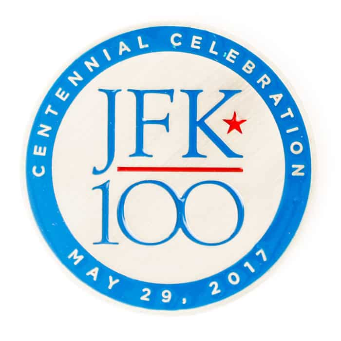President John Kennedy 100th Anniversary Challenge Coin Front – C