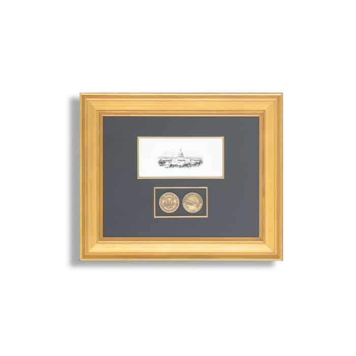 United States House Of Representatives Frame With Challenge Coins
