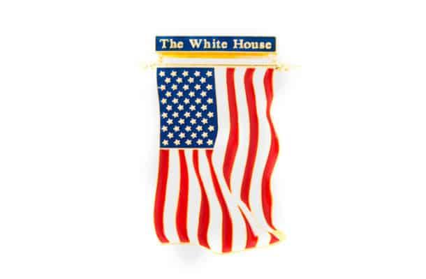 White House Draped Flag Lapel Pin