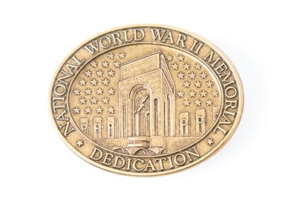 World War II Memorial Dedication Lapel Pin