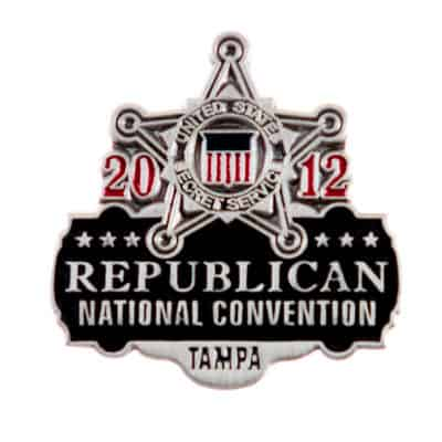 2012 Tampa Republican National Convention USSS Commemorative Lapel Pin