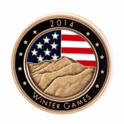 2014 Winter Games Lapel Pin