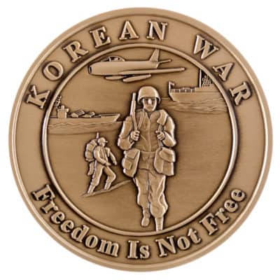 50th Anniversary of the Korean War Medallion Back