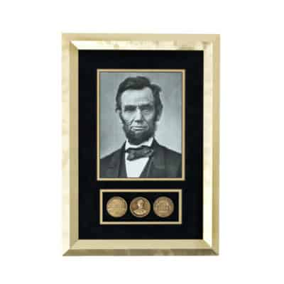 Abraham Lincoln 3 Coin Set Shadowbox