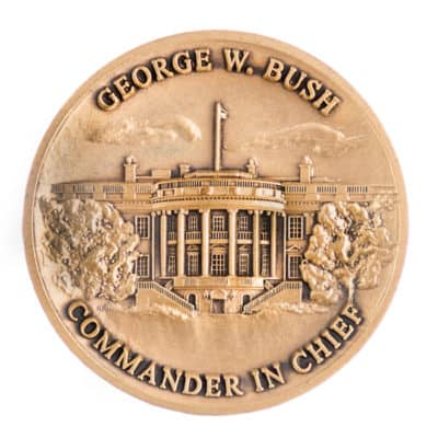 Bush Presidential Challenge Coin Back