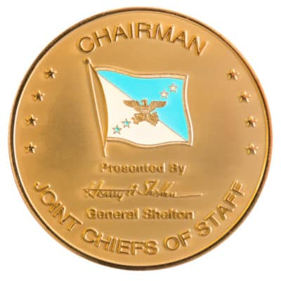 Chairman of the Joint Chiefs of Staff Gold Medallion Front
