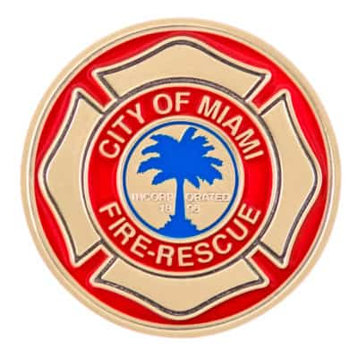 City of Miami Titans Fire Challenge Coin Back