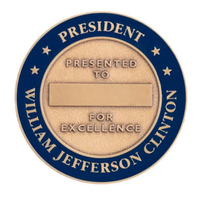 Clinton Presidential Challenge Coin Back