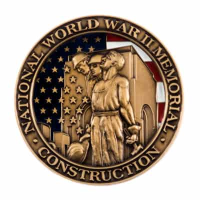 Construction of the National World War Two Memorial Commemorative Lapel Pin