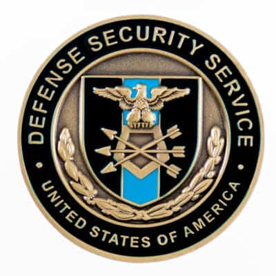 Defense Security Service Challenge Coin Back