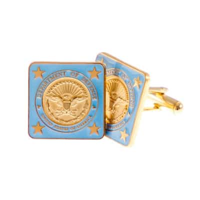 Department of Defense Blue and Gold Cufflinks