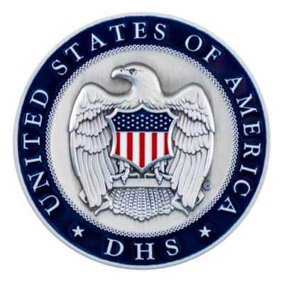 Department of Homeland Security Medallion Back