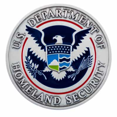 Department of Homeland Security Medallion Front