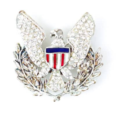 Diamond Eagle Brooch
