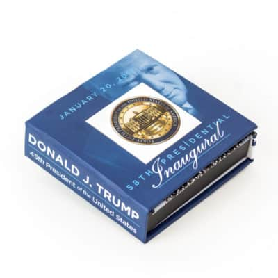 Donald Trump Inaugural Challenge Coin Presentation Box