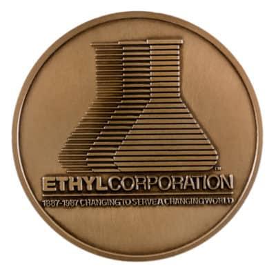 Ethyl Corporation Medallion Back