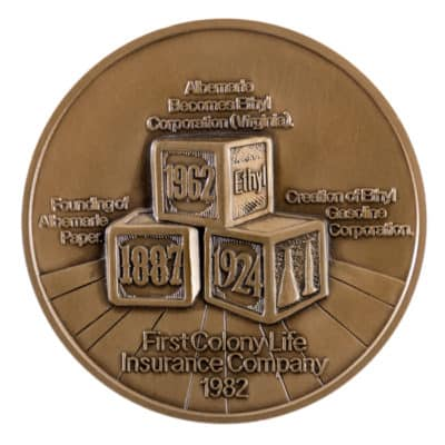 Ethyl Corporation Medallion Front