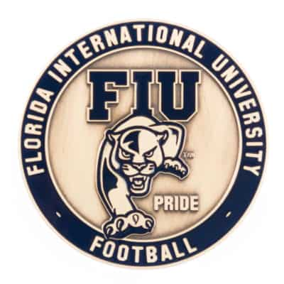 FIU Football Challenge Coin Back