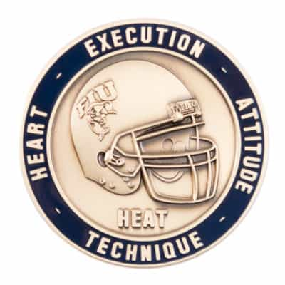 FIU Football Challenge Coin Front