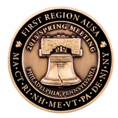 First Region AUSA Challenge Coin Front