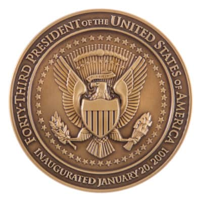 George W Bush Presidential Medallion Back
