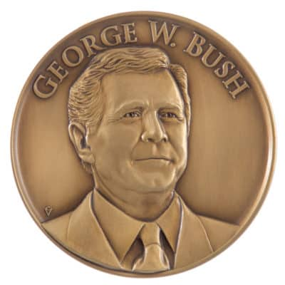 George W Bush Presidential Medallion Front