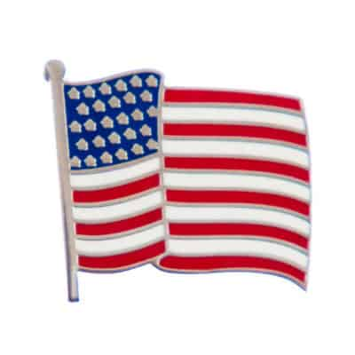 George W Bush Waving Flag Lapel Pin
