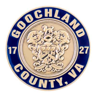 Goochland County Fire Challenge Coin Back