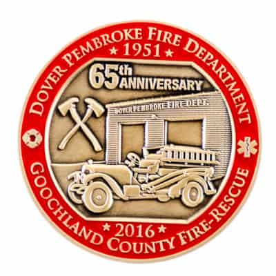 Goochland County Fire Challenge Coin Front