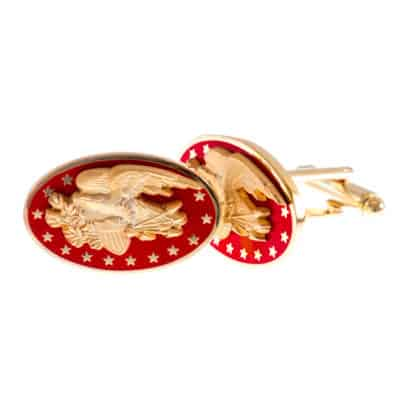 Great Seal Red and Gold Cufflinks