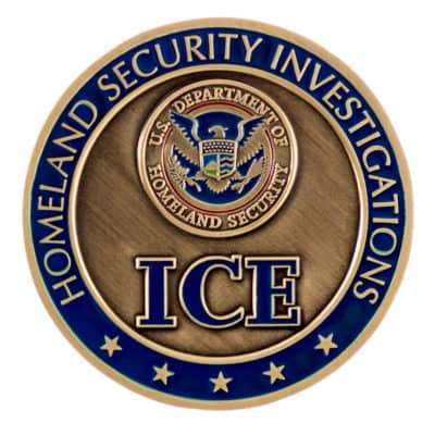 HSI Office of Intelligence Challenge Coin Back