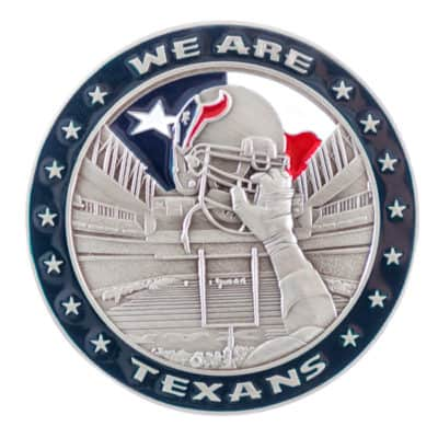 Houston Texans Challenge Coin Back