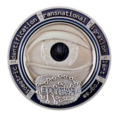 ICE HSI Bitmap Challenge Coin Front