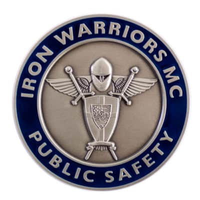 Iron Warriors MC Challenge Coin Front